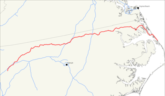U.S. Route 158 - Image: US 158 map