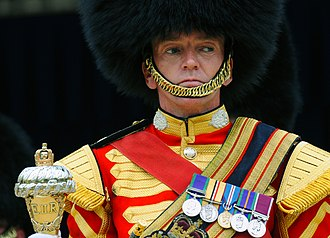 Band of the Scots Guards - Drum major Sgt. Martin Godsman in 2009.