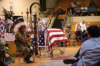 Cheyenne River Indian Reservation - Funeral in Eagle Butte for a Korean War casualty
