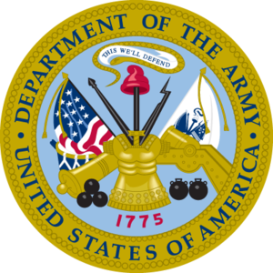 Alvin Luedecke - Image: US Department of the Army seal