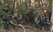 US Marines on reconnaissance exercise 2003 crop
