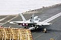 US Navy 030326-N-9228K-001 An F-A-18E Super Hornet prepares to launch from the aircraft carrier USS Abraham Lincoln (CVN 72).jpg