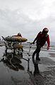 US Navy 030427-N-7265L-053 Aviation Ordnancemen transfer ordnance across the flight deck after a rain squall.jpg