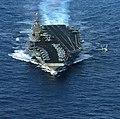 US Navy 040625-N-9769P-504 An F-A-18E Super Hornet piloted by Commander, Carrier Air Wing Fourteen (CVW-14), Capt. Scott Swift, launches on his final flight as Air Wing Commander aboard USS John C. Stennis (CVN 74).jpg