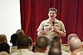 US Navy 050310-N-0962S-106 Master Chief Petty Officer of the Navy (MCPON) Terry Scott speaks to Sailors during an All Hands call in Guantanamo Bay, Cuba.jpg