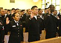 US Navy 060331-N-4649C-040 Sailors and Marines from various sea and shore commands around Japan recite the oath of naturalization at the Chapel of Hope on board Commander, Fleet Activities Yokosuka.jpg