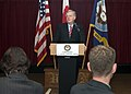 US Navy 061024-N-2716P-003 U.S. Ambassador to Japan, Thomas Schieffer, speaks to assembled officers, civilians, and Japanese officials during the Executive Forum Dinner held at the Officer's Club at Commander Fleet Activities Y.jpg