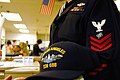 US Navy 061211-N-6536T-001 Electronics Technician 1st Class John Brooks of Seattle, Wash., assigned to USS Los Angeles (SSN 688), participates in the Navy's Caps for Kids program at the Los Angeles Children's Hospital.jpg