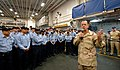 US Navy 061221-N-9689V-005 Chief of Naval Operations (CNO) Adm. Mike Mullen meets with Sailors aboard the amphibious assault ship USS Boxer (LHD 4) while visiting ships in the region over the holidays.jpg