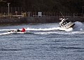 US Navy 071115-N-1251W-005 A U.S. Navy security boat engages a simulated enemy boat during a force protection training exercise at Commander Fleet Activities Yokosuka, Japan.jpg