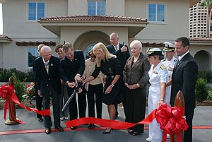 Madeleine A. Pickens - Pickens (4th from left) at a ribbon-cutting for a 2008 grand opening at the Naval Medical Center San Diego