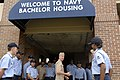 US Navy 090817-N-9818V-063 Master Chief Petty Officer of the Navy (MCPON) Rick West speaks with Sailors at the Navy Bachelor Housing complex at Andrews Air Force Base.jpg