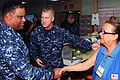 US Navy 100217-N-8366W-031 Capt. James J. Ware introduces American Red Cross volunteer Mireille Jeannopoulos to Rear Adm. Victor Guillory.jpg