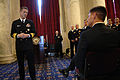US Navy 100305-N-9818V-139 Vice Adm. Dirk Debbink, Chief of Navy Reserve, talks to Sailors and guests during the 95th Navy Reserve Anniversary and Reenlistment ceremony.jpg
