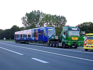 Île-de-France tramway Line 4 - Delivery of the line's first U 25500 trains.