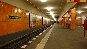 Rosenthaler Platz (Berlin U-Bahn) - Platform view