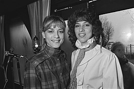 Alice May (links) en Caren Wood (rechts) in 1981