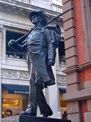Pennsylvania National Guard - Image: Union Club Philly Statue 1