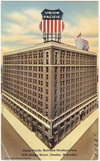 Jarvis Hunt - Image: Union Pacific Railroad Headquarters, 1416 Dodge Street, Omaha, Nebraska (78822)