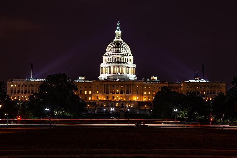 File:United States Capitol Building at night.jpg