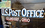 United States Post Office (Glandorf, Ohio) - sign painted in the window.jpg