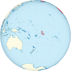 United States on the globe (American Samoa special) (small islands magnified) (Polynesia centered).svg