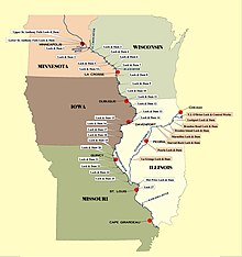 List of locks and dams of the Upper Mississippi River  Wikipedia
