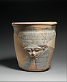 Upper sectoin of a blue-painted Hathor Jar from Malqata MET DP311581.jpg