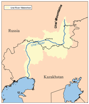 Uralgebirge Karte.Ural Fluss Wikipedia