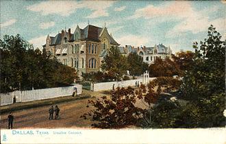 Ursulines - Ursuline Convent, Dallas, Texas (postcard, circa 1901-1907)