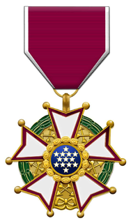 Legion of Merit military award of the United States Armed Forces