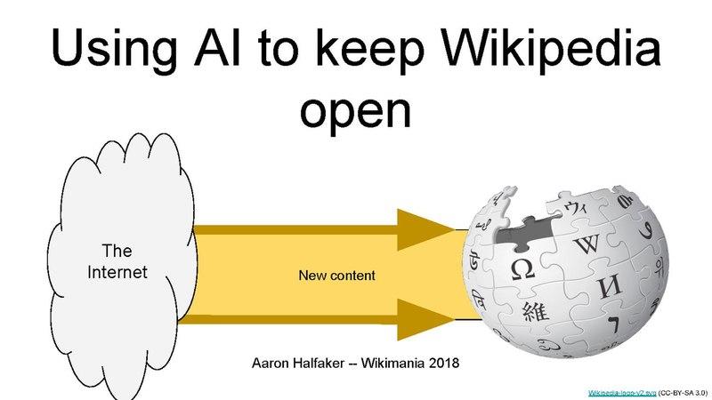 File:Using artificial intelligence to keep Wikipedia open (Wikimania 2018).pdf