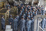 VCNO and Fleet Master Chief answer questions during an all-hands call aboard USS Coronado. (31494895682).jpg