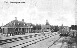 Vad railway station in about 1907