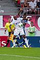 Valais Cup 2013 - OM-FC Porto 13-07-2013 - André Ayew et Kelvin.jpg