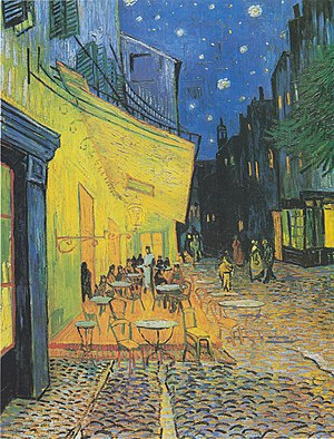 Café Terrace at Night - Image: Van Gogh Terrasse des Cafés an der Place du Forum in Arles am Abend 1