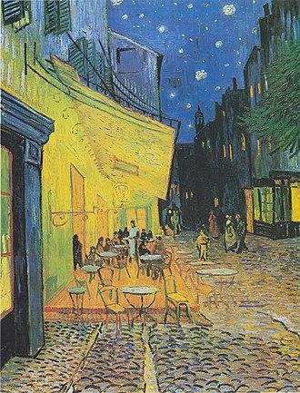 Café Terrace at Night - Image: Van Gogh Terrasse des Cafés an der Place du Forum in Arles am Abend 1