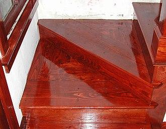 Varnish - Varnish on wood stairs