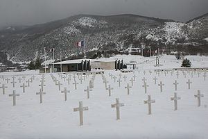 Maquis du Vercors - Cemetery and memorial in Vassieux-en-Vercors, where German forces composed of Russians and Ukrainians killed partisans and inhabitants