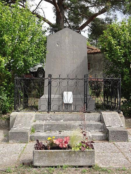 Vassogne (Aisne) monument aux morts