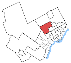 Vaughan (electoral district) - Vaughan in relation to other Greater Toronto ridings