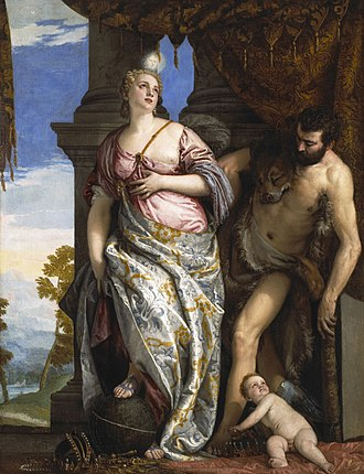 Orleans Collection - Allegory of Wisdom and Strength (c. 1580) by Veronese, originally painted for Rudolph II, Holy Roman Emperor, now in the Frick Collection, New York.