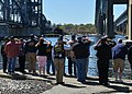 Veterans salute the attack submarine USS Dallas (SSN 700) as it leaves Groton, Conn., May 3, 2013 130503-N-TN558-137.jpg