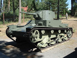 Parola Tank Museum - Image: Vickers 45mm parola 1