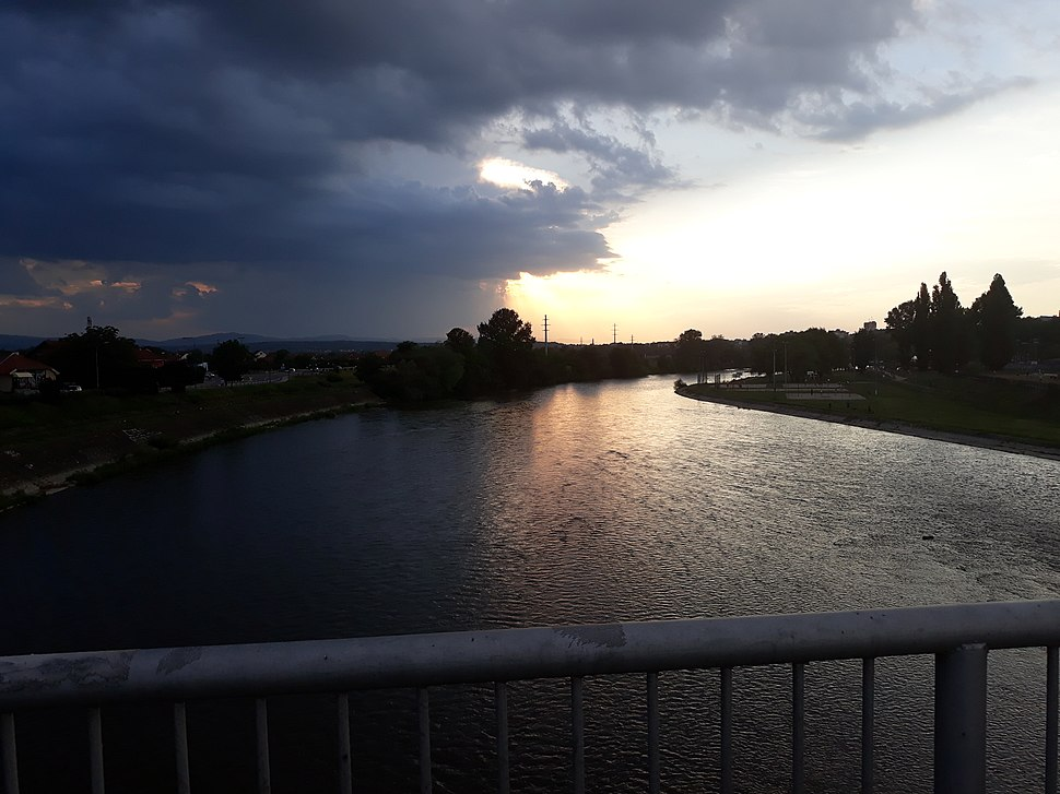 View from the Ibar bridge in Kraljevo