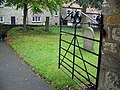 View from the porch gate, St Giles Church, Lockton - geograph.org.uk - 595815.jpg