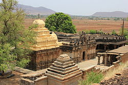 View of Kalleshvara Temple at Bagali from an elevation.JPG