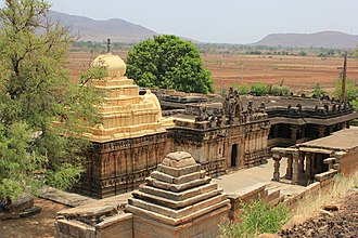 Ballari district - Image: View of Kalleshvara Temple at Bagali from an elevation