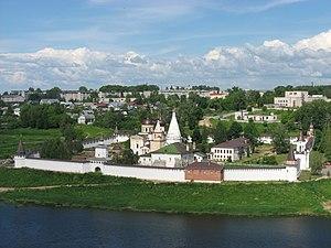 Staritsa (town), Tver Oblast - View of Staritsa, June 2008