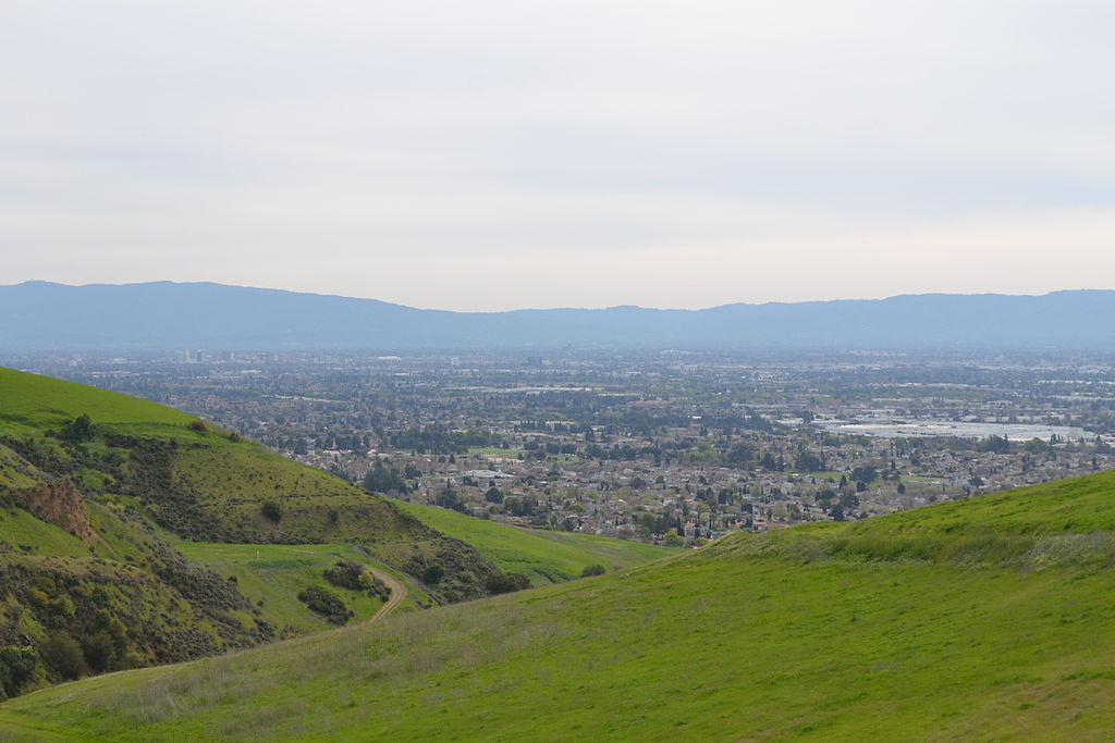 View of downtown San Jose from Ed Levin Country Park